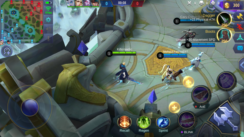A screenshot of an ongoing battle of Mobile Legends: Bang Bang | Screencap by Elian Jason Quilisadio