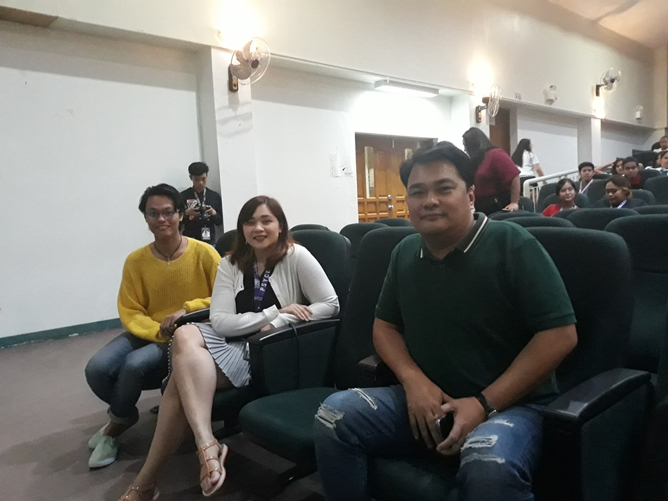 Bacolod Cong. Greg Gasataya (shown here with Y4MH member Jean Paul Amit, far left, and psychologist Abigaile Capay) authored HB 569 that seeks to ban classes earlier than 8:30.  The bill proved controversial.  Photo by Lourdes Rae Antenor.