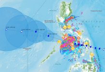 BACOLOD CITY, Philippines -- Typhoon Ursula moves steadily west at 20 kph, with maximum sustained winds of 140 kph near the center and gustiness of up to 195 kph.