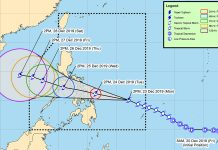 BACOLOD CITY, Philippines - Tropical storm Ursula (international name: Phanfone) strengthens as it moves steadily west-northwest, with most of northern Negros Occidental as well as Bacolod under storm signal number 1.