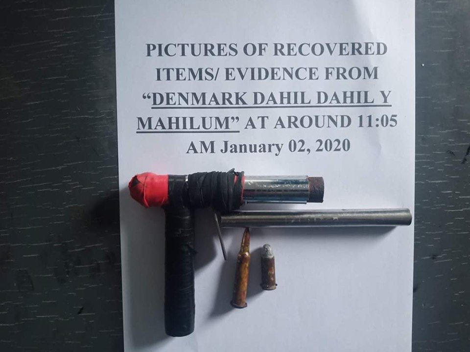 The pen gun allegedly owned by Dahil Dahil. | Photo courtesy of BCPO.