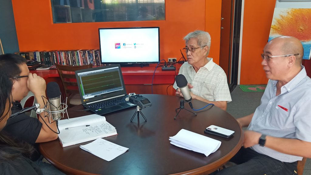 Bacolod City Vice Mayor El Cid Familiaran, right, with disaster czar Mr. Jose Maria Vargas who heads the City Hall's cluster on disaster preparedness and response in an interview with DNX editors.| Photo by Richard D. Meriveles