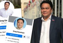 BACOLOD CITY, Negros Occidental, Philippines - Bacolod Cong. Greg Gasataya warns the public against poser accounts, or fake Facebook accounts bearing his name.