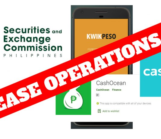 BACOLOD CITY, Negros Occidental, Philippines - The Securities and Exchange Commission (SEC) has ordered the operators of four online lending applications to cease and desist from offering and providing loans to the public.