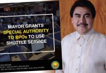 BACOLOD CITY, Negros Occidental, Philippines - Mayor Evelio Leonardia has granted the business process outsourcing (BPO) companies in Bacolod a Special Authority for its transport services to operate as shuttle service for its employees within the city during the Enhanced Community Quarantine (ECQ) period.