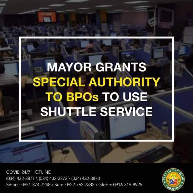 special grant for BPO