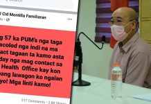 BACOLOD CITY, Negros Occidental, Philippines - Vice-Mayor El Cid Familiaran is not just blowing hot air over the disappearance of 57 Persons Under Monitoring (PUMs) in violation of current laws and quarantine protocols.
