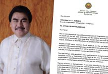 Bacolod City Mayor Evelio Leonardia has asked Health Secretary Francisco to reconsider the holding of religious gatherings to expand to an attendance of 50 percent of seating of the building's seating capacity.