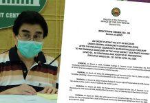 BACOLOD CITY, Negros Occidental, Philippines – Bacolod City Mayor Evelio Leonardia has signed Executive Order 35, effectively placing the city under a General Community Quarantine on 16 May, 2020.
