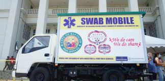The first bio-safe Swab Mobile sampling unit in the Philippines was launched in Bacolod City today, Thursday, 7 May.