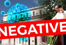 BACOLOD CITY, Negros Occidental, Philippines - Vice-Governor Jeffrey Ferrer has confirmed that Sixth District Board Member Valentin Miguel Alonso, his wife, a secretary, two household staff, and two other people who might have had contact with the city's Patient 18 all tested negative for COVID19, results from the provincial testing facility show.