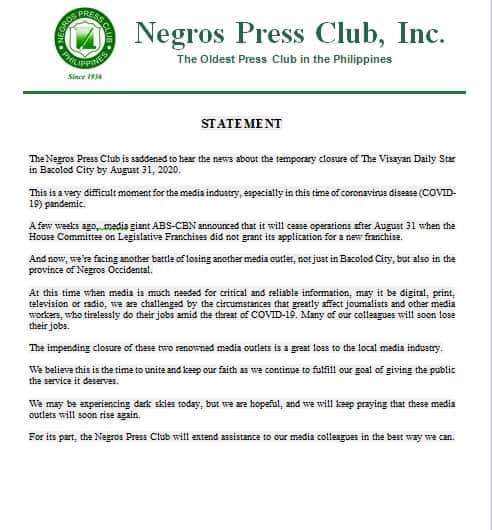 NPC statement
