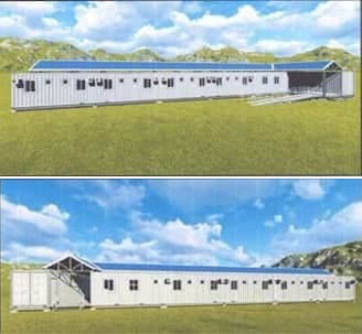 Architect's perspective of the quarantine facilities to be constructed by the DPWH