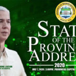 BACOLOD CITY, Negros Occidental, Philippines - Eugenio Jose Lacson, 42nd Filipino governor of this province, gave his post first year address today, his speech framed by the raging COVID-19 pandemic and to a lesser degree, the Asian swine flu.