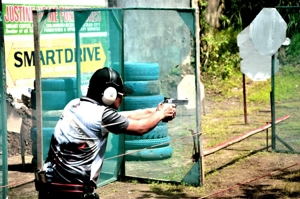A slice of the action during the just-concluded Ardie Ong Shootimg Competition held Sunday at the NIR Shooting Range in Bacolod City. | Photo by Rodney A. Jarder Jr.